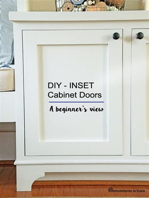 How To Make Inset Cabinet Doors